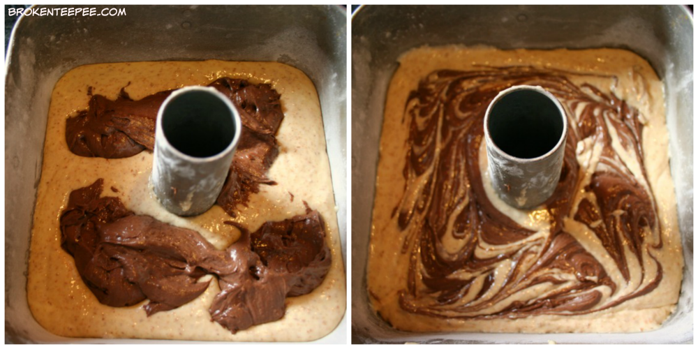 Coconut Chocolate Marble Cake, baking for the firemen