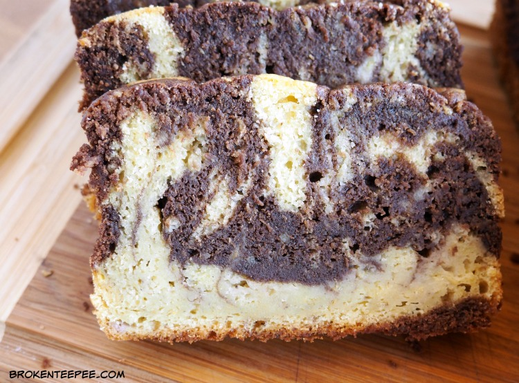 Marbled Banana Cake Recipe