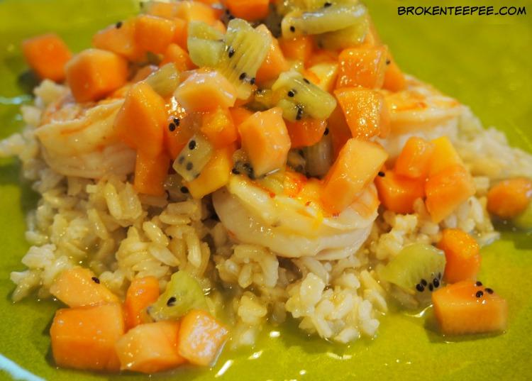 Citrus Shrimp en Papillote with Tropical Fruit Salsa