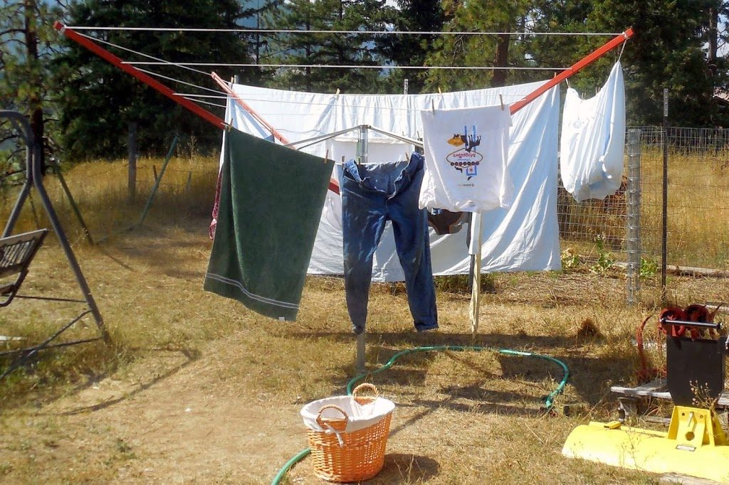 clothes on the line, Easy Gardening Tips, #Clorox2, #sponsored