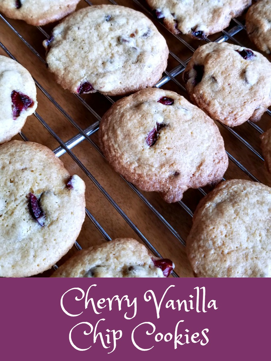 New Cherry Recipe; Cherry Vanilla Chip Cookies – Baking for the ...