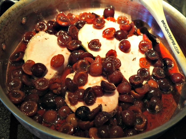 leftovers recipe, Brandied Cherries on Pork Loin