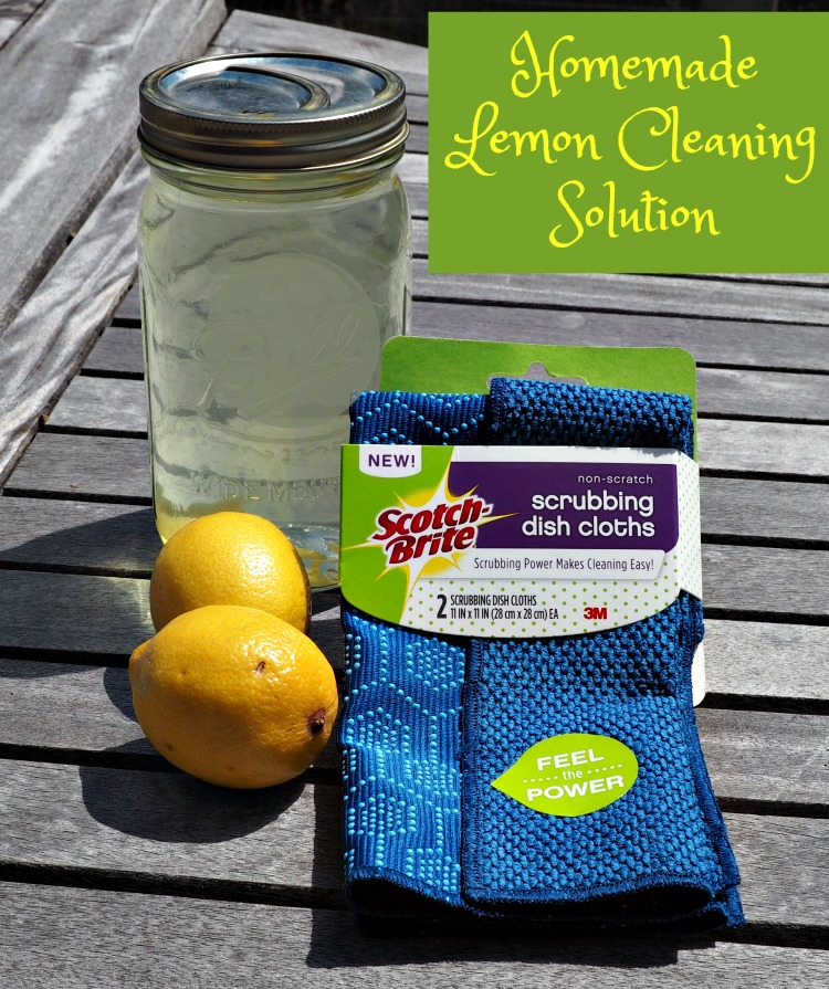 Scotch-Brite® Scrubbing Dish Cloth, easy cleaning, Homemade Lemon Cleaning Solution Tutorial, #ScrubCloth, #CollectiveBias, #AD