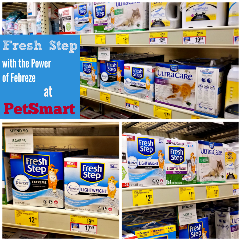 Fresh Step with the Power of Febreze, cat litter, get the stink out, BlogPaws, Stinky no more, PetSmart, Fresh Step at PetSmart, #FreshStepFebreze, #Unsmellable, #AD
