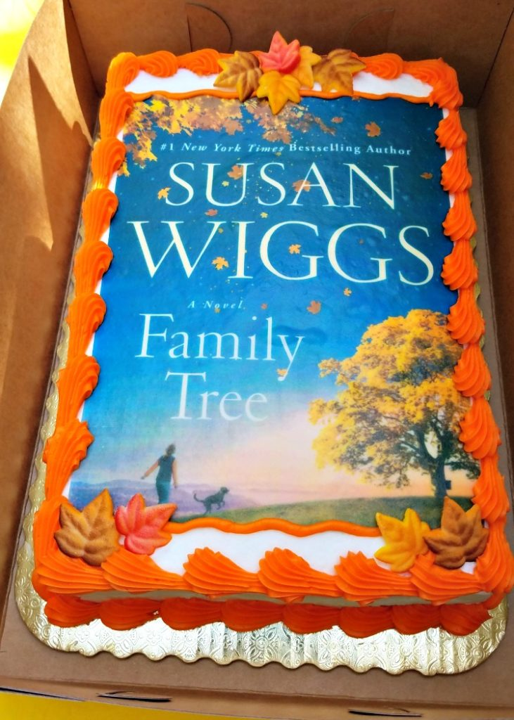 Susan Wiggs interview, Family Tree, Superior Montana, Broken Teepeee, book cake
