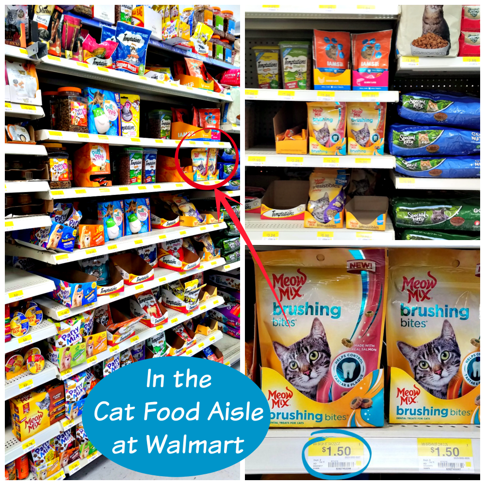 Meow Mix Brushing Bites, cat's dental health, cat treats, Brushing Bites at Walmart, #ad