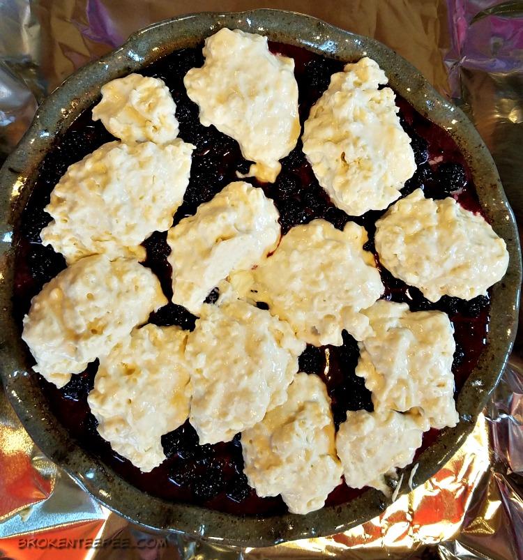 Blackberry Cobbler with Vanilla Sauce