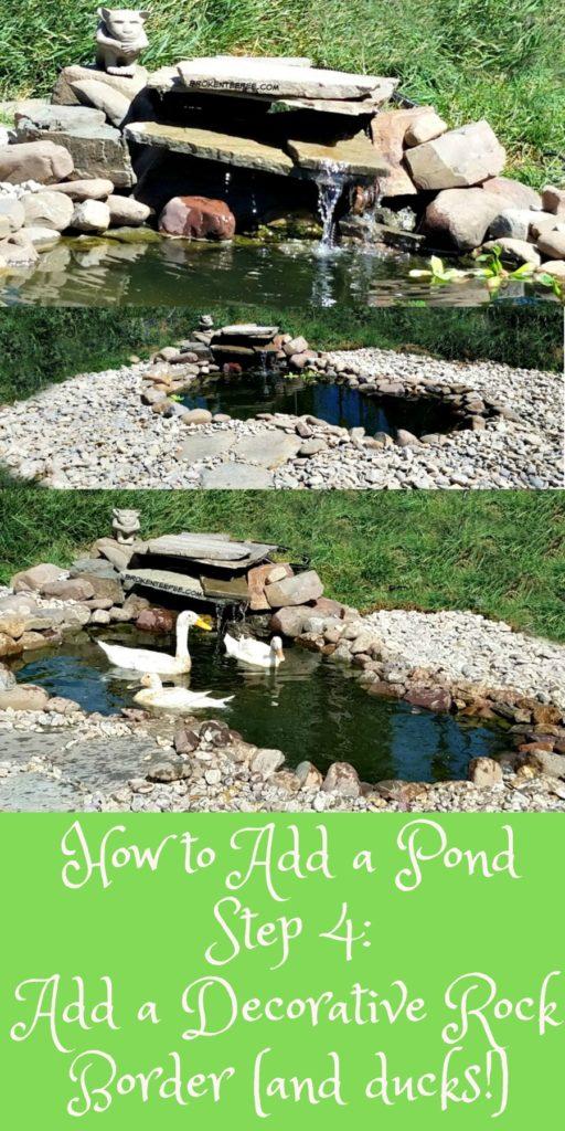 Adding a Pond, duck pond, smartpond, the Happy Ducks, #AD