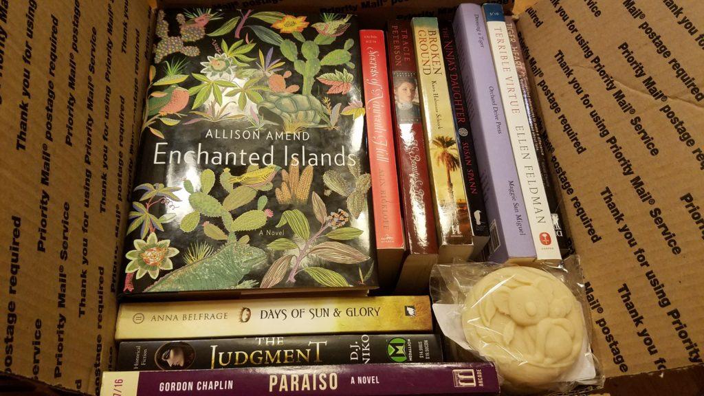 Giveaway Hop, box of books