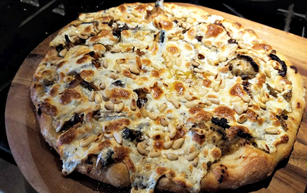 Eggplant Pizza Recipe – with Toasted Pine Nuts