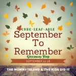 September to Remember Giveaway Hop – Win a Box of Books and Happy Goat Soap (ARV $175)