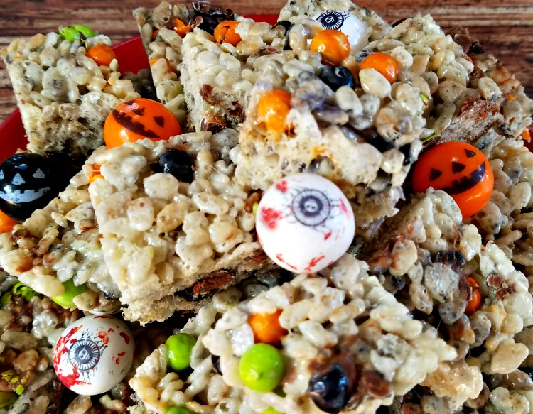 Celebration by Frey, Sixlets, easy crispy rice treats, Halloween, #CelebrationSpookyTreats, #AD