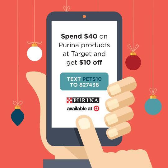 Purina savings, Target, #Txt4Pet, AD