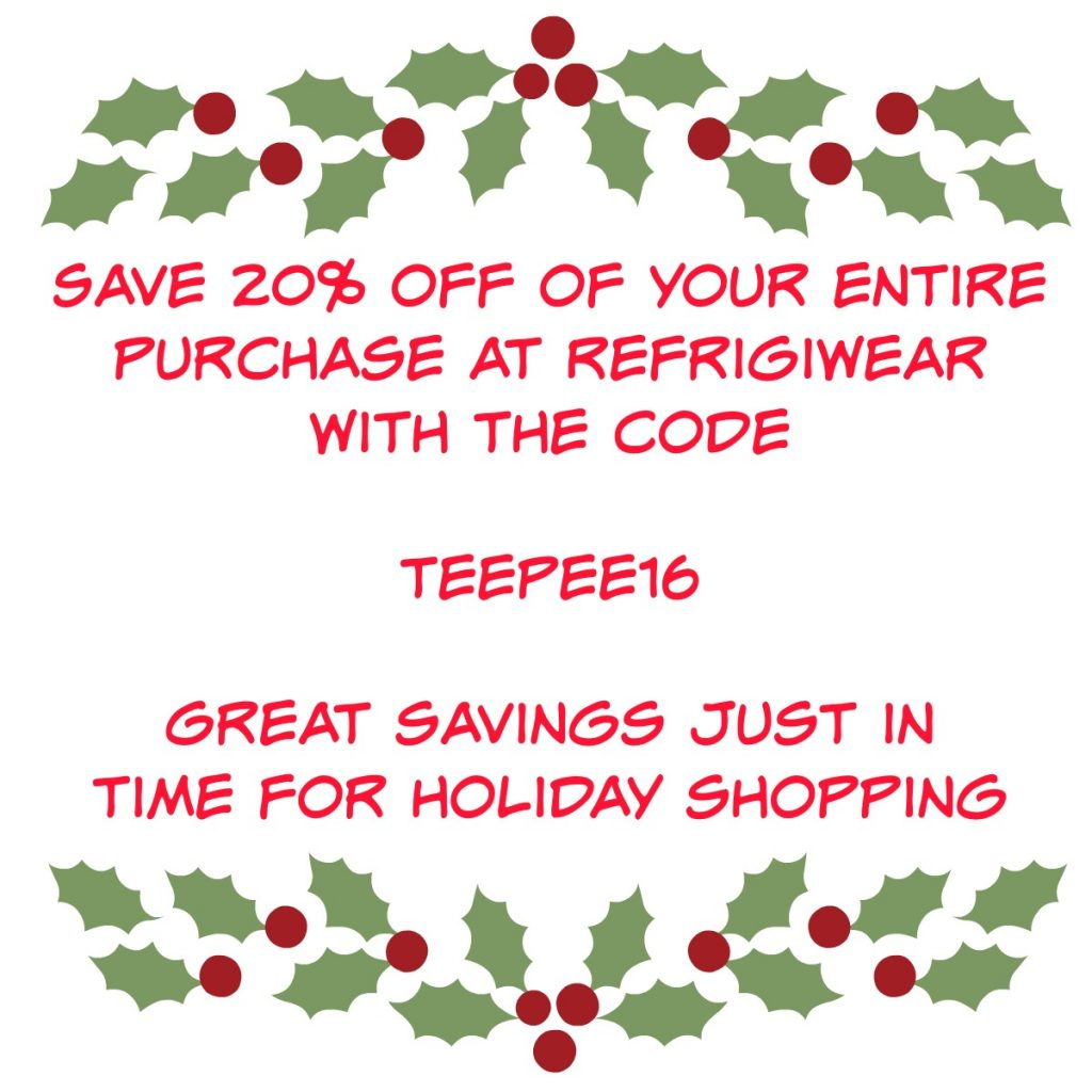RefrigiWear, holiday gift ideas, Extreme Sweater Jacket, coupon code, AD