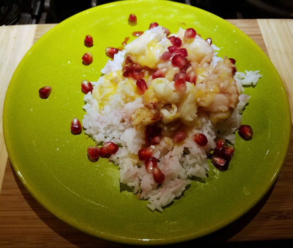 Lobster in Orange Sauce with Pomegranates, lobster recipe