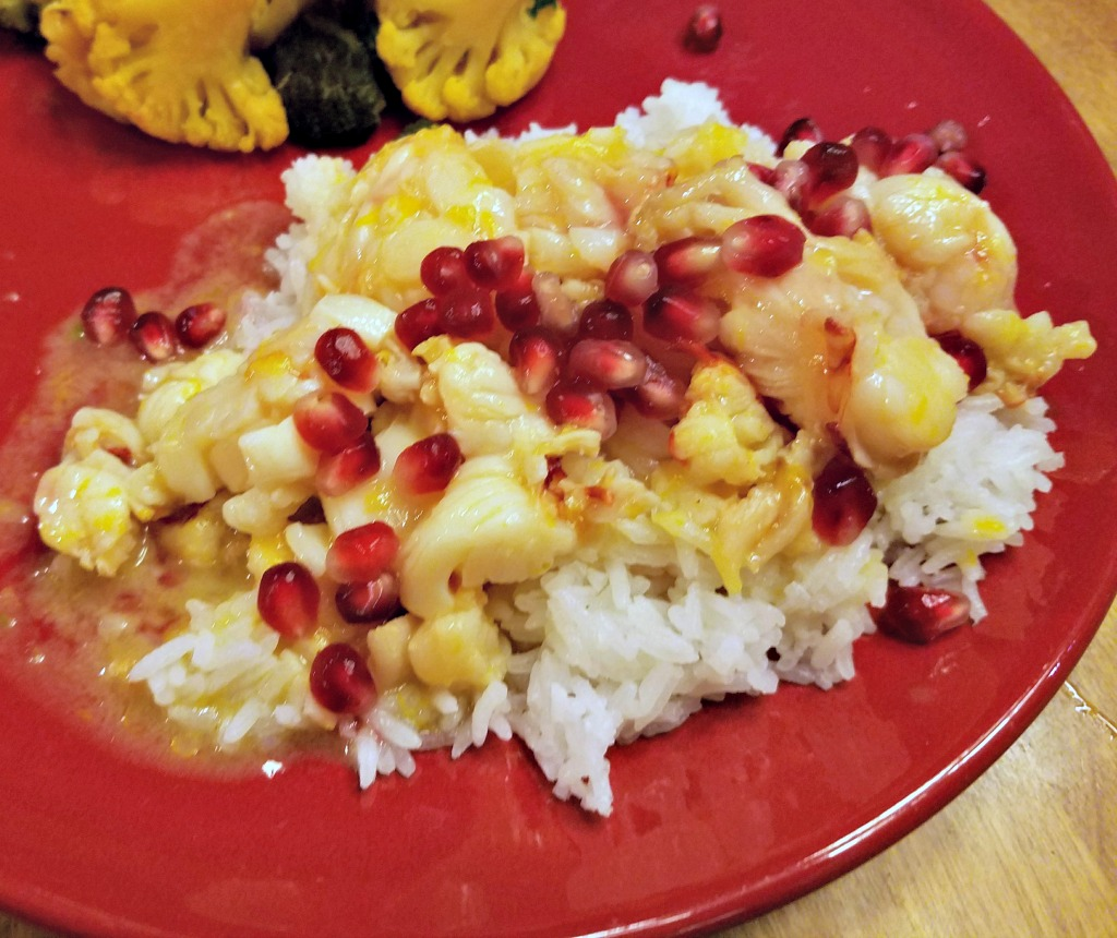 Lobster in Orange Sauce with Pomegranates