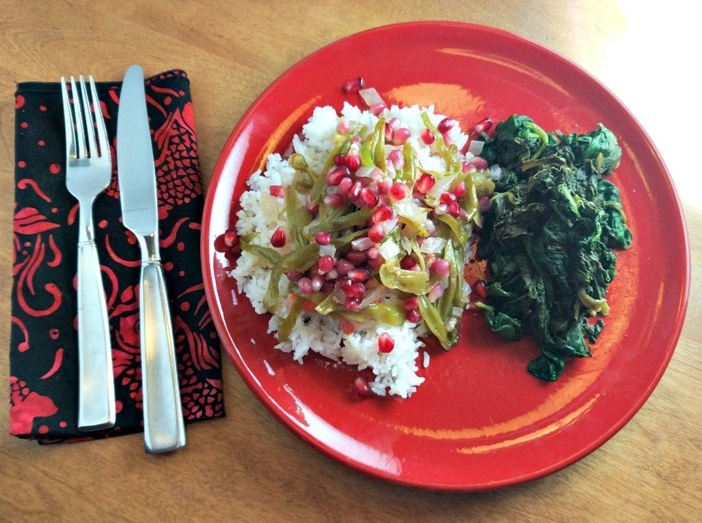 cooking en papillote, salmon en papillote, salmon with pomegranates (2)
