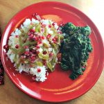 Cooking en Papillote: Salmon, Onions and Peppers with Pomegranates