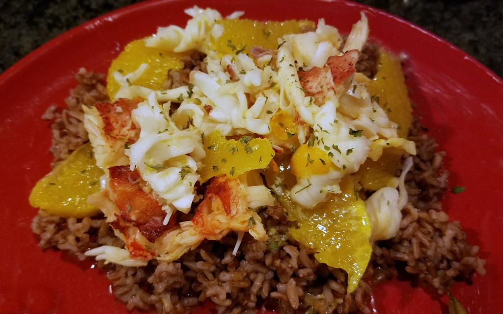 lobster recipe, cooking en papillote, Lobster in Orange Sauce