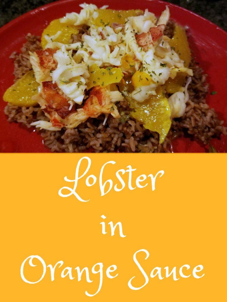 lobster recipe, lobster en papillote, Lobster in orange sauce