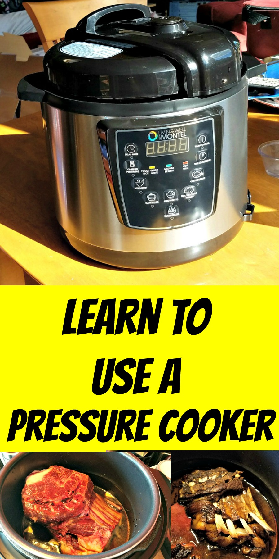 learn to use a pressure cooker, Living Well with Montel, Pressure Cooker review, AD