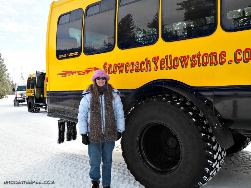 Yellowstone snowcoach tour, Yellowstone Vacations, AD