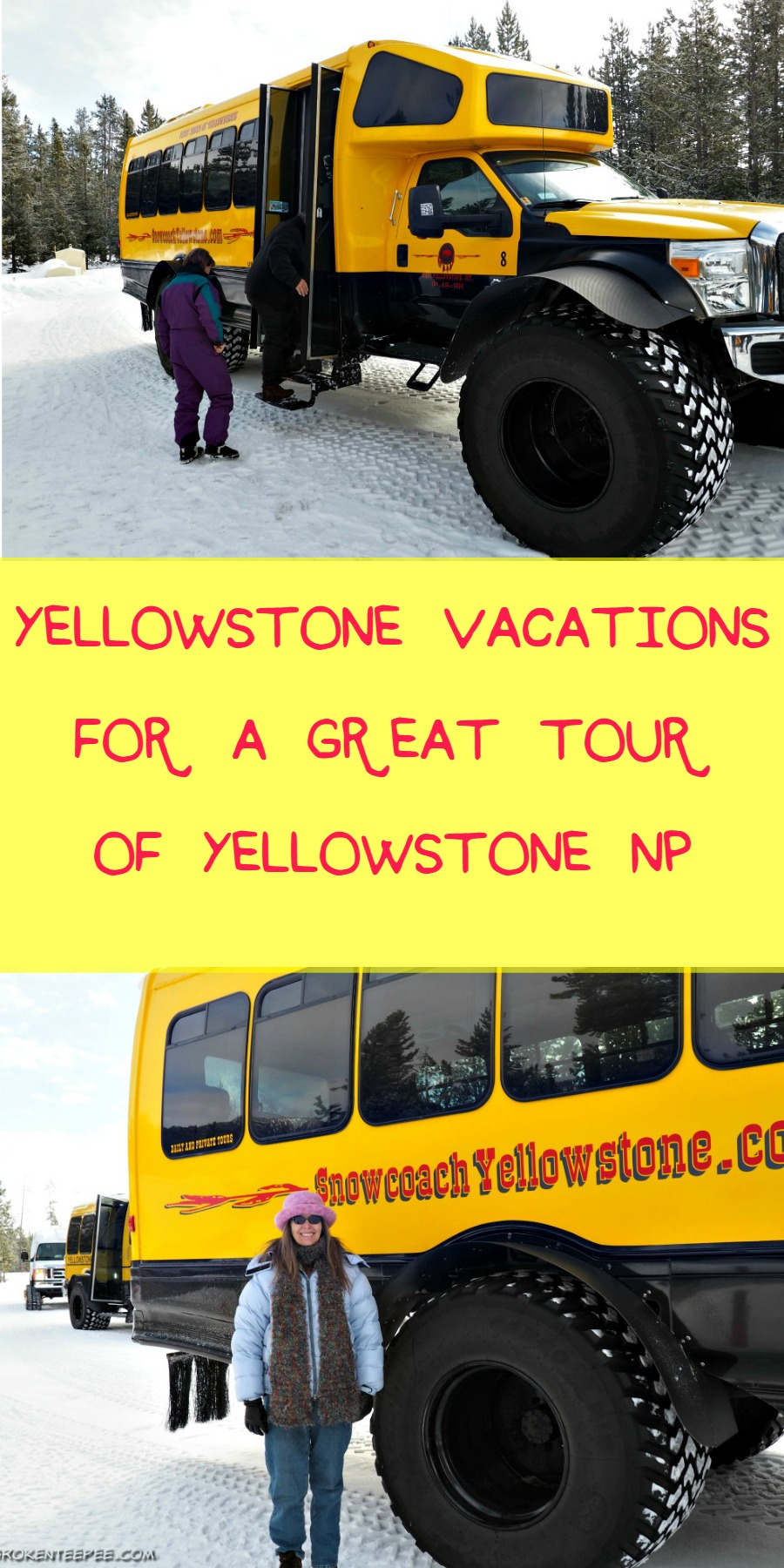 Yellowstone snowcoach tour, Yellowstone Vacations, AD