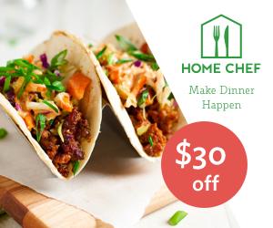 Home Chef coupon, AD