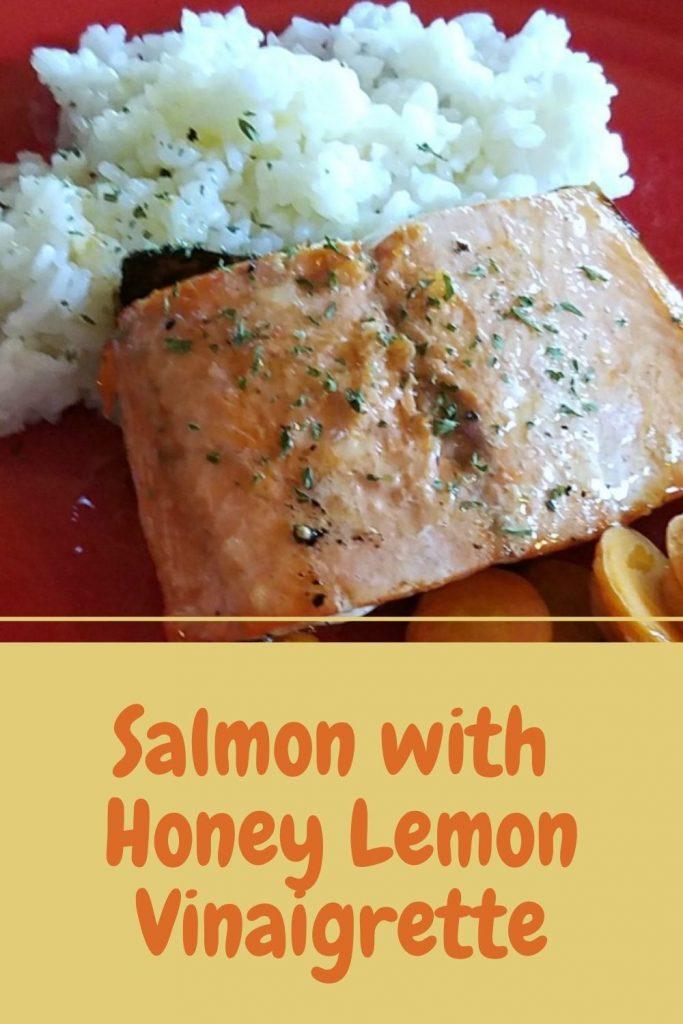 salmon with honey lemon vinaigrette