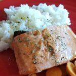 Salmon with Honey Lemon Vinaigrette, Easy weeknight salmon dinner