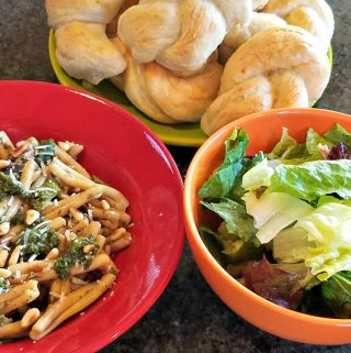 Cooking from the Garden: Pasta with Roasted Eggplant and Zucchini