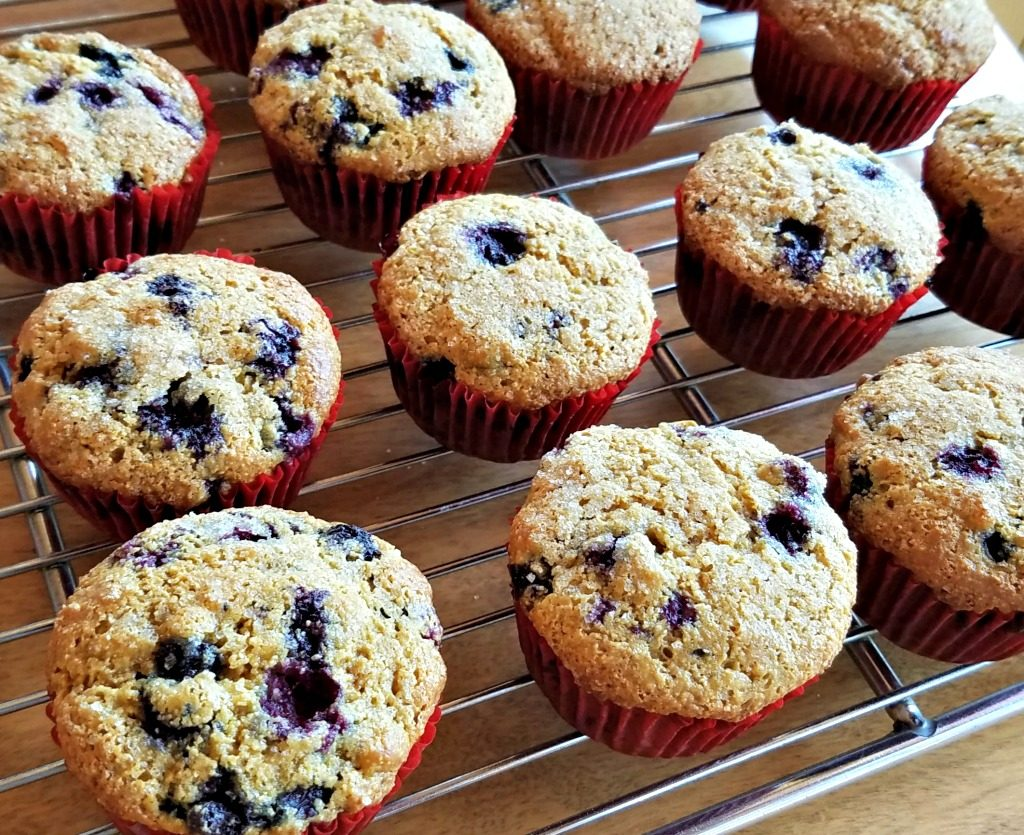 huckleberries, huckleberry muffins