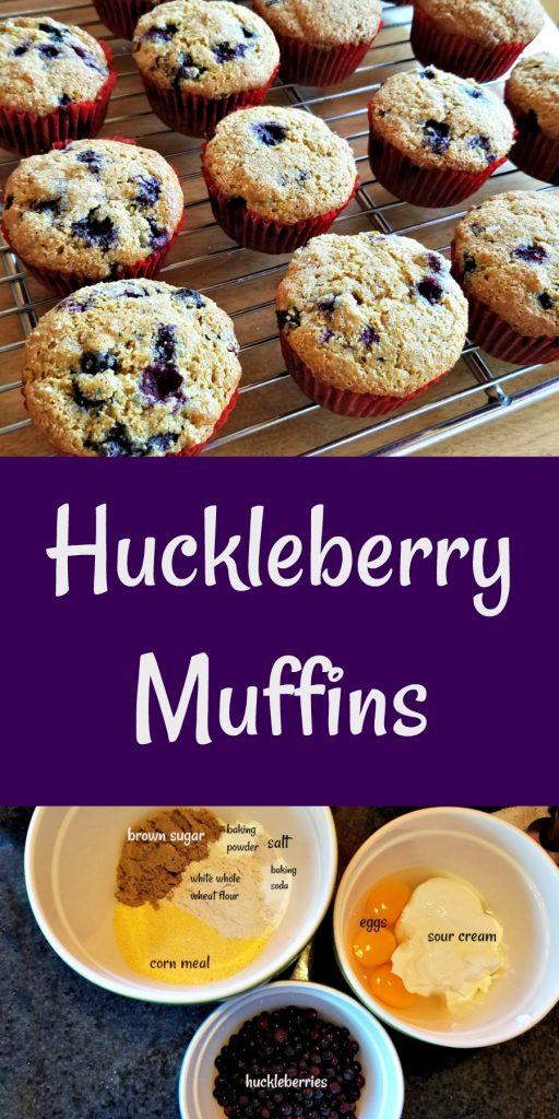 huckleberries, huckleberry muffins