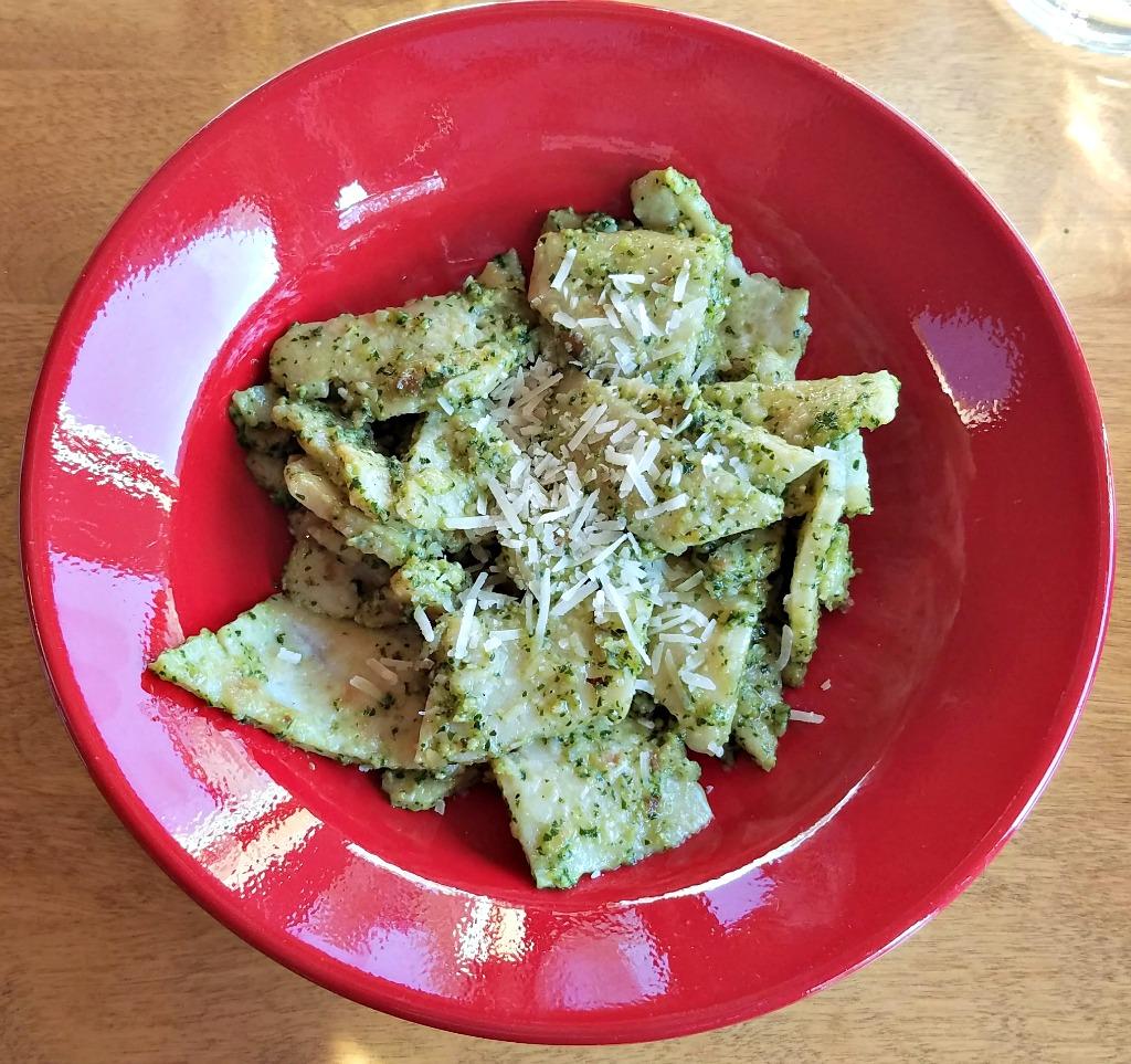 Testaroli with Pesto – How to Make Testaroli, Also Known as Italian Crepes