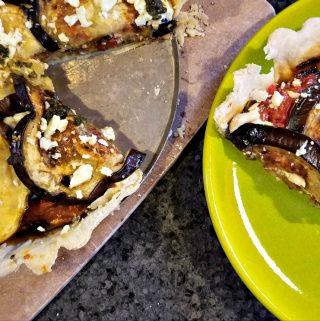 Eggplant Recipes: Eggplant, Tomato and Feta Tart
