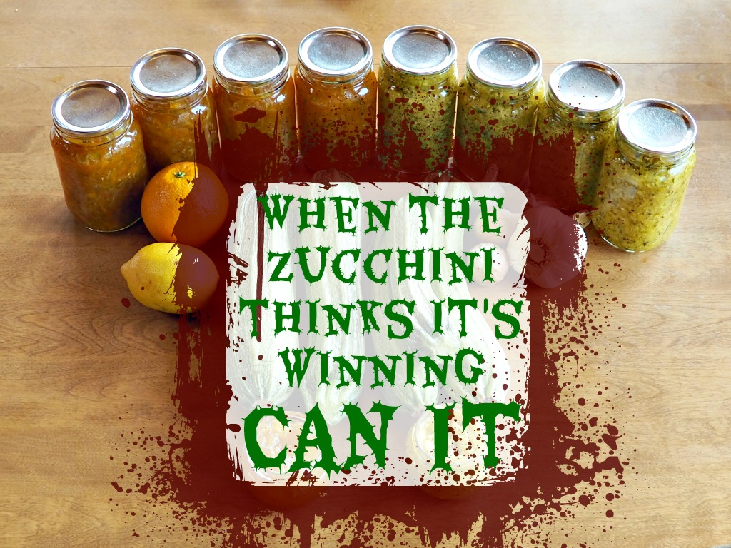 Recipes for Canning Zucchini Part II: How to Deal with Zucchini Overload
