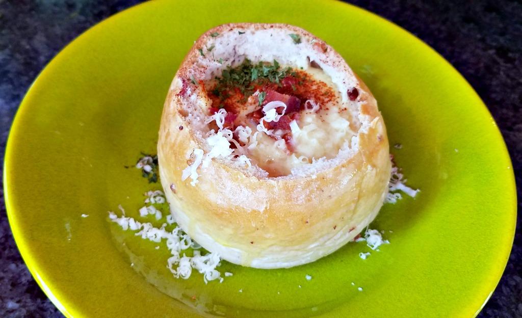 How to Make Bread Bowls – Cheesy Bacon Bread Bowl Recipe