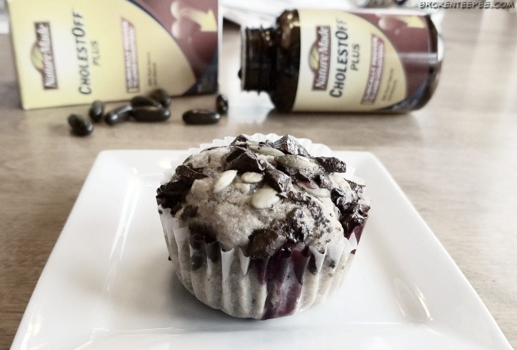 Heart Healthy Blueberry Muffin Recipe, Grab and Go Muffins, Nature Made at Walmart, Nature Made CholestOff Plus, #NatureMadeHeartHealth, #CollectiveBias, #AD