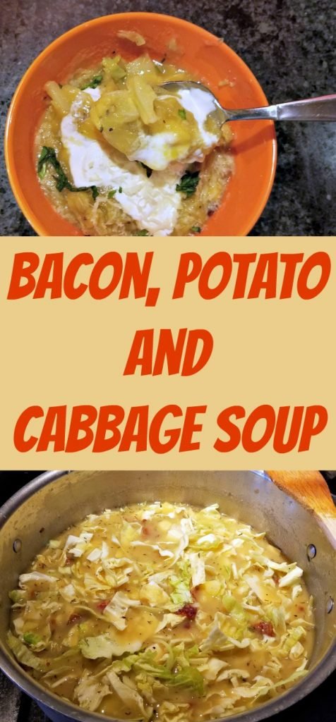 comfort food, Bacon Potato and Cabbage Soup