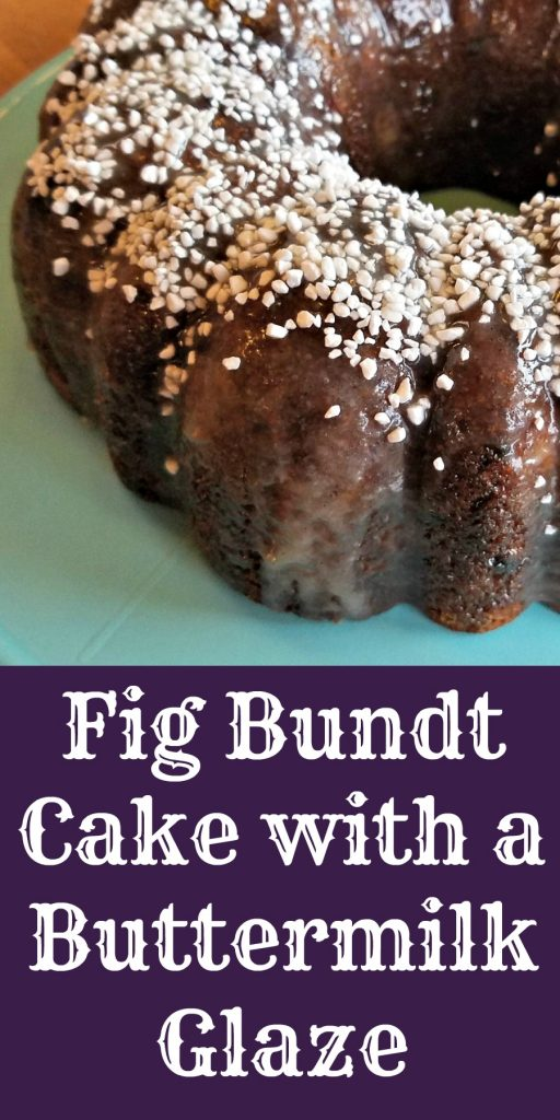 dried figs recipe, Fig Bundt Cake with Buttermilk Glaze