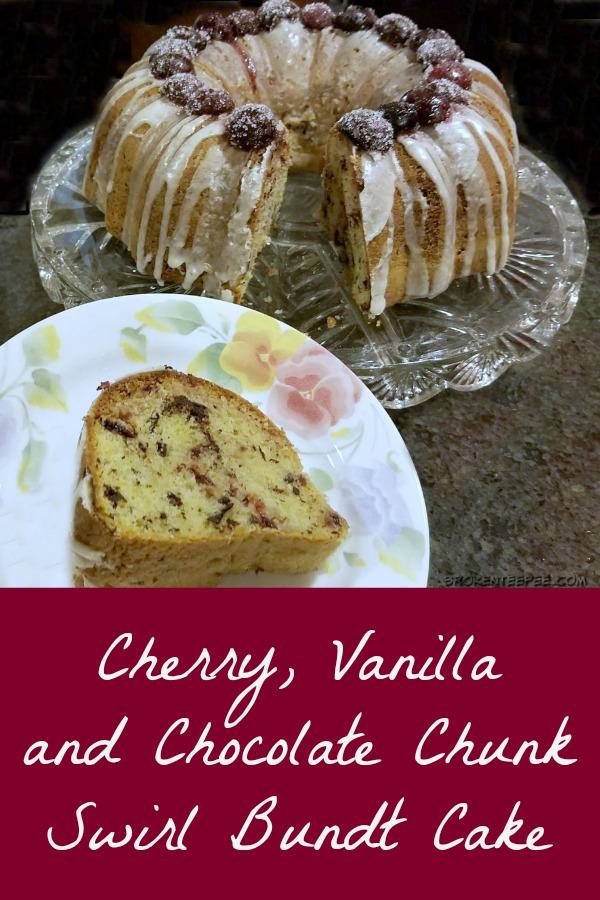 swirl bundt cake, Cherry Vanilla and Chocolate Chunk Swirl Bundt Cake, Beautiful Bundts, cookbook