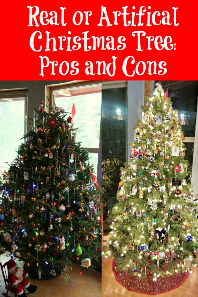 artificial or real christmas tree