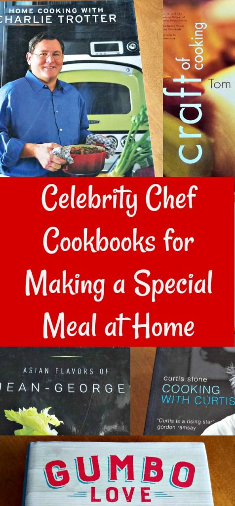 Celebrity Chef Cookbooks, making a special dinner at home
