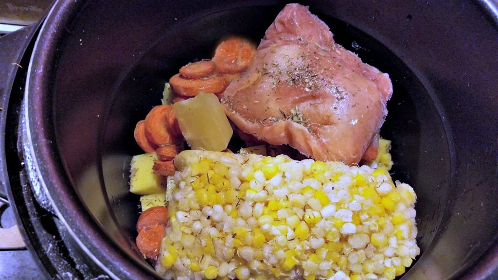 Electric Pressure Cooker Chicken Soup, 30 minute chicken soup, freezer to table meal, freezer to table chicken soup, recipe, electric pressure cooker recipe