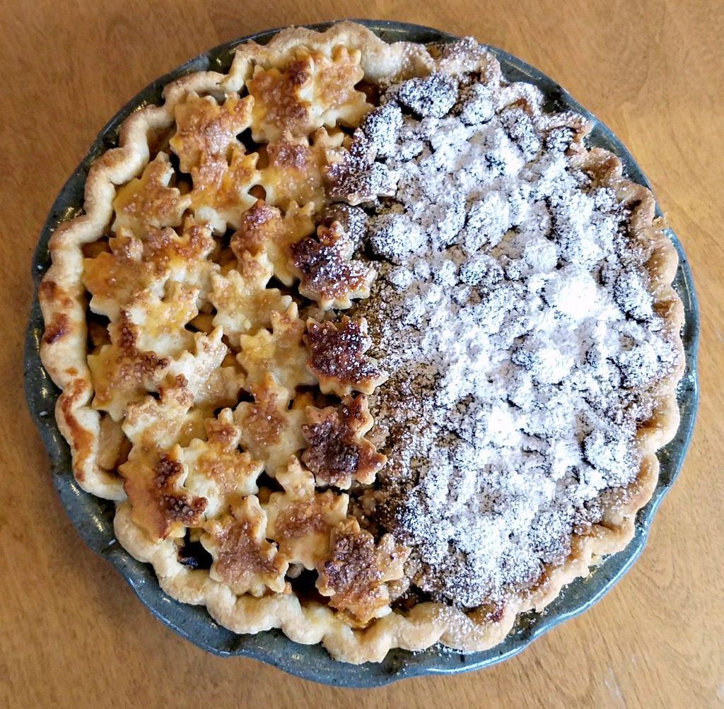 fruit pie, apple pear pie recipe, winter fruit pie