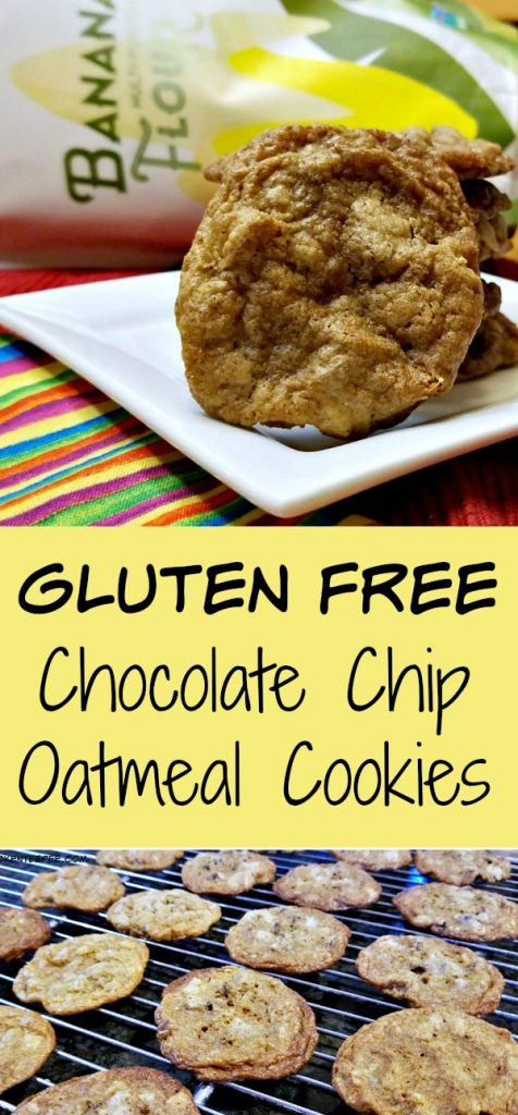 gluten free chocolate chip cookies, baking with banana flour, banana flour, gluten free baking, AD