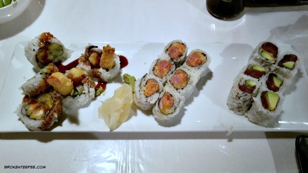 Visit Helena Montana, Nagoya Japanese Steakhouse, sushi rolls