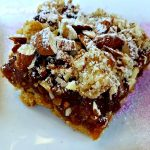 baking with almond flour, apricot cherry bars, ad