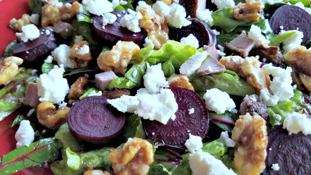 Roasted Beet Salad with Orange Vinaigrette, beets, roasted beets, salad, organic beets