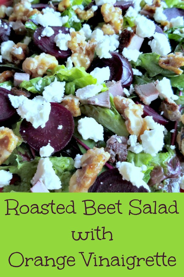 Roasted Beet Salad with Orange Vinaigrette, beets, roasted beets, salad, organic beets